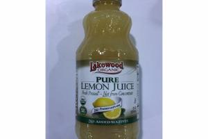 ORGANIC PURE LEMON JUICE