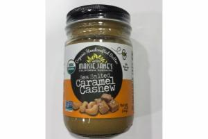 SEA SALTED CARAMEL CASHEW ORGANIC HANDCRAFTED BUTTER