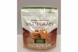 GARDEN VEGETABLE MULTI-GRAIN CRUNCHY, BAKED CRACKERS WITH WHOLE GRAINS, SEEDS AND THE TASTE OF GARDEN VEGETABLES