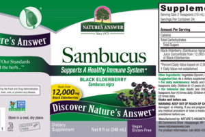 BLACK ELDERBERRY SAMBUCUS DIETARY SUPPLEMENT