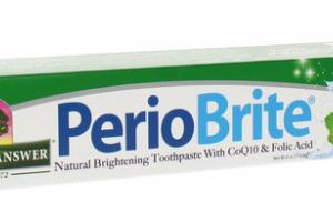 NATURALLY BRIGHTENING TOOTHPASTE WITH COQ10 & FOLIC ACID, COOLMINT