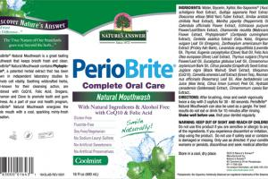 PERIOBRITE COMPLETE ORAL CARE NATURAL MOUTHWASH COOLMINT
