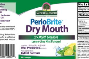 LEMON-LIME MINT DRY MOUTH LOZENGES
