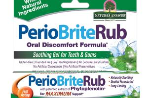 ORAL DISCOMFORT FORMULA SOOTHING GEL FOR TEETH & GUMS WITH PATENTED EXTRACT OF PHYTOPLENOLIN, COOLMINT