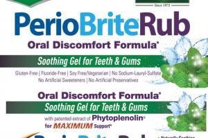 PERIOBRITERUB ORAL DISCOMFORT FORMULA SOOTHING GEL FOR TEETH & GUMS, COOLMINT