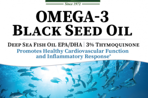 ORANGE OMEGA-3 BLACK SEED OIL DIETARY SUPPLEMENT