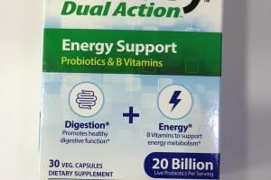 Dual Action Energy Support Probiotics & B Vitamins Dietary Supplement