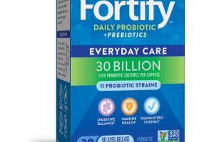 DAILY PROBIOTIC + PREBIOTICS PROBIOTIC SUPPLEMENT DELAYED-RELEASE VEG. CAPSULES