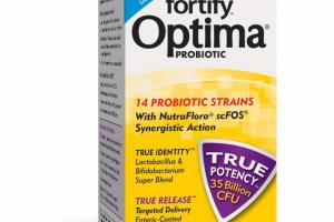 FORTIFY OPTIMA PROBIOTIC VEGETARIAN CAPSULES DIETARY SUPPLEMENT