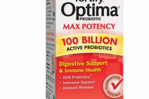 FORTIFY 100 BILLION ACTIVE PROBIOTICS DIGESTIVE SUPPORT & IMMUNE HEALTH DIETARY SUPPLEMENT VEGETARIAN CAPSULES