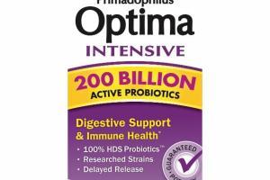 PRIMADOPHILUS OPTIMA INTENSIVE 200 BILLION ACTIVE PROBIOTICS DIGESTIVE SUPPORT & IMMUNE HEALTH DIETARY SUPPLEMENT VEGETARIAN CAPSULES