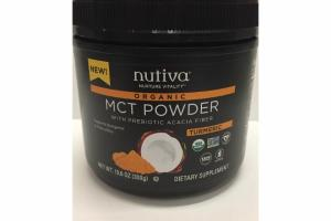 TURMERIC ORGANIC MCT POWDER WITH PREBIOTIC ACACIA POWDER DIETARY SUPPLEMENT