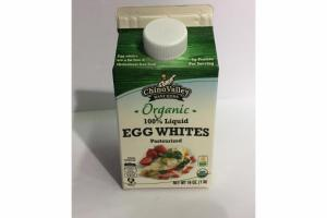 PASTEURIZED ORGANIC 100% LIQUID EGG WHITES