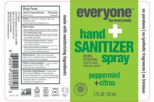 HAND + SANITIZER SPRAY, PEPPERMINT + CITRUS