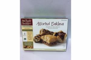 ASSORTED BAKLAVA PECAN BLOSSOM, WALNUT BAKLAVA & CHOCOLATE ALMOND ROLLS