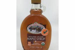 100% PURE ORGANIC MAPLE SYRUP