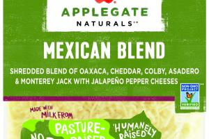 MEXICAN SHREDDED BLEND OF OAXACA, CHEDDAR, COLBY, ASADERO & MONTEREY JACK WITH JALAPENO PEPPER CHEESES