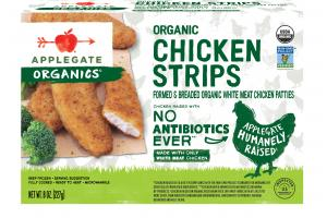 ORGANIC CHICKEN STRIPS FORMED & BREADED ORGANIC WHITE MEAT CHICKEN PATTIES