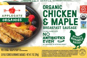 ORGANIC CHICKEN & MAPLE BREAKFAST SAUSAGE