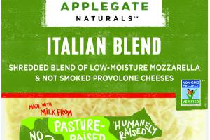 SHREDDED ITALIAN BLEND OF LOW-MOISTURE MOZZARELLA & NOT SMOKED PROVOLONE CHEESES
