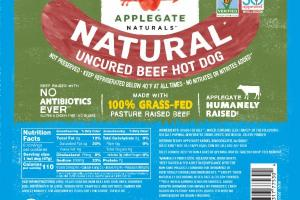 NATURAL UNCURED BEEF HOT DOG