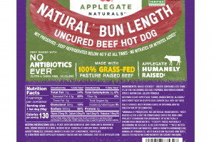 NATURAL BUN LENGTH UNCURED BEEF HOT DOG