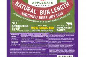 NATURAL BUN LENGTH UNCURED BEEF HOT DOG
