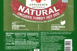 NATURAL UNCURED TURKEY HOT DOG