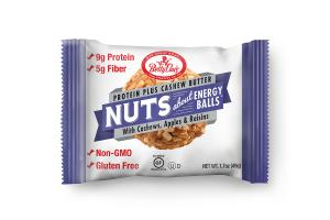 PROTEIN PLUS CASHEW BUTTER WITH CASHEWS, APPLES & RAISINS NUTS ABOUT ENERGY BALLS