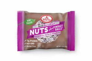 PALEO BERRY BLAST WITH BLUEBERRIES, GOJI BERRIES & RASPBERRIES NUTS ENERGY BALLS