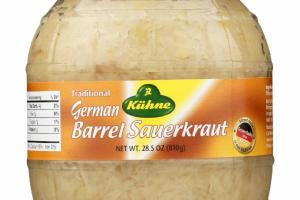 TRADITIONAL GERMAN BARREL SAUERKRAUT
