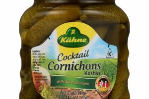 COCKTAIL CORNICHONS WITH DILL AND ONIONS