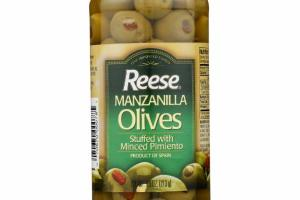 MANZANILLA OLIVES STUFFED WITH MINCED PIMIENTO