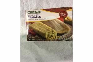 SWEET CORN TAMALES WITH POBLANO CHILES AND MONTEREY JACK CHEESE