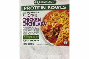 3 LAYER CHICKEN ENCHILADA PROTEIN BOWLS