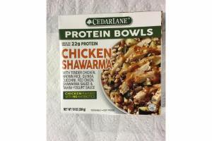 CHICKEN SHAWARMA PROTEIN BOWLS