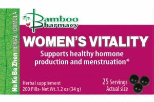 WOMEN'S VITALITY SUPPORTS HEALTHY HORMONE PRODUCTION AND MENSTRUATION HERBAL SUPPLEMENT