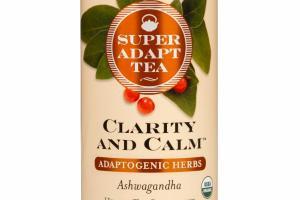 ASHWAGANDHA ADAPTOGENIC HERBS CLARITY AND CALM HERBAL TEA SUPPLEMENT BAGS