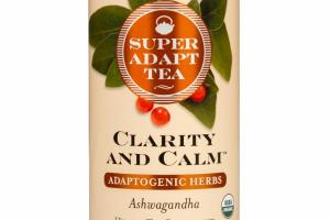 ASHWAGANDHA ADAPTOGENIC HERBS CLARITY AND CALM HERBAL TEA SUPPLEMENT BAGS