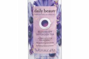 BLUEBERRY LAVENDER TEA HERBAL SUPPLEMENT TEA BAGS