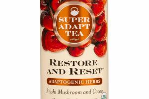 RESTORE AND RESET ADAPTOGENIC HERBS REISHI MUSHROOM AND COCOA HERBAL TEA SUPPLEMENT