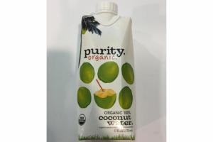 ORGANIC 100% COCONUT WATER.