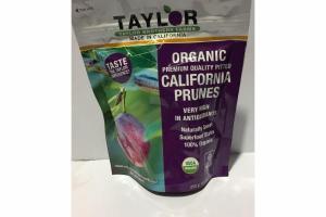 ORGANIC CALIFORNIA PRUNES PREMIUM QUALITY PITTED