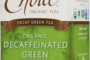 ORGANIC DECAFFEINATED GREEN TEA BAGS