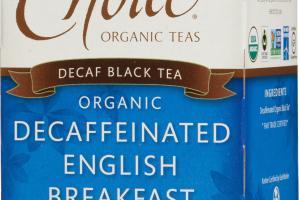 ORGANIC DECAFFEINATED ENGLISH BREAKFAST DECAF BLACK TEA