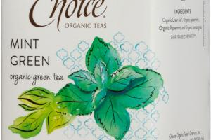 MINT GREEN ORGANIC TEA BAGS
