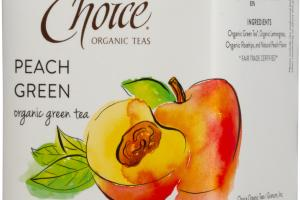 ORGANIC PEACH GREEN TEA BAGS