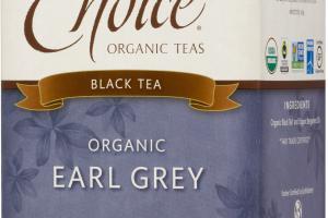 ORGANIC EARL GREY BLACK TEA BAGS