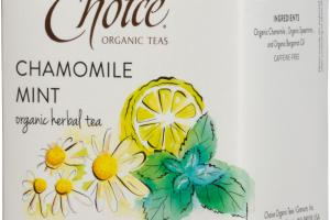 CHAMOMILE MINT ORGANIC HERBAL TEA BAGS