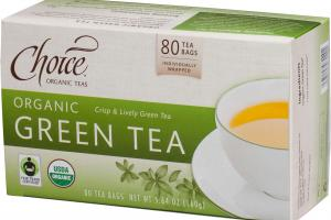ORGANIC CRISP & LIVELY GREEN TEA BAGS
